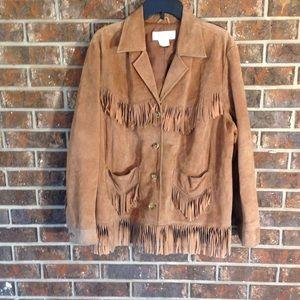 Jones New York Sport Suede Leather Jacket Sz 2X